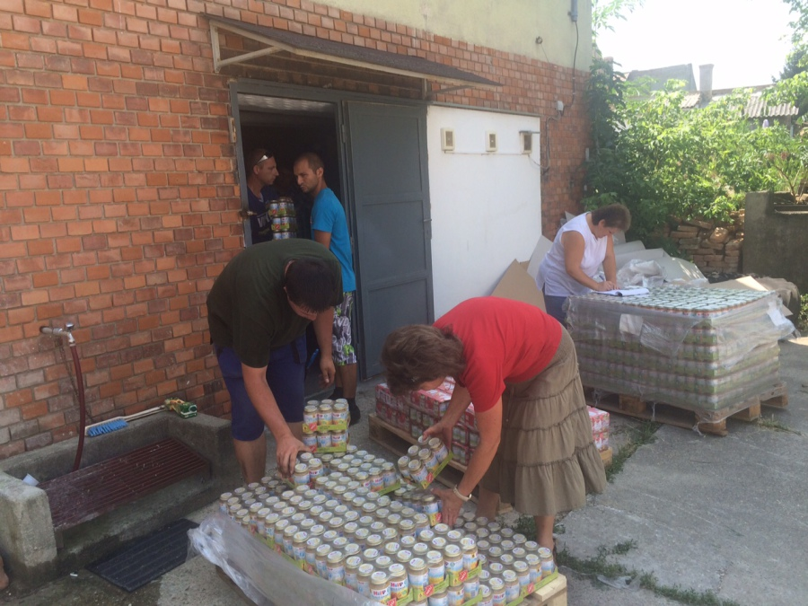 Hilfstransport nach Ungarn